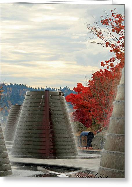 Harborside Fountain Park II Greeting Card