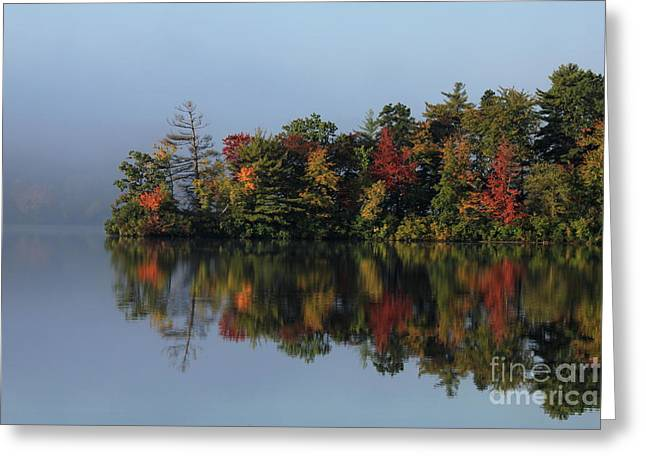 Fall At Heart Pond Greeting Card by Kenny Glotfelty