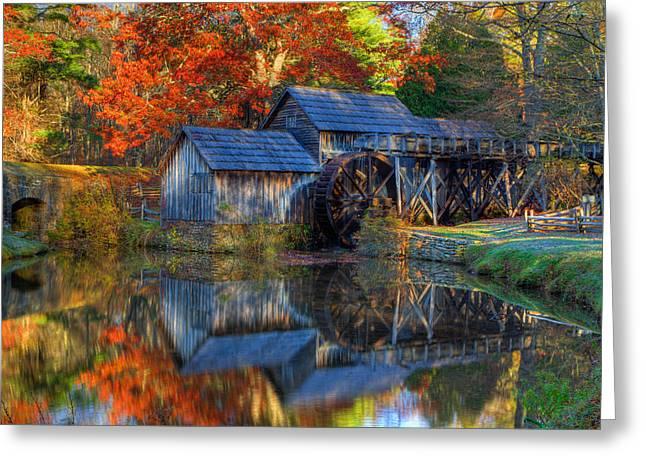 Fall At Mabry Mill Greeting Card by David Cote