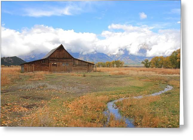 Fall At Moulton Barn Greeting Card