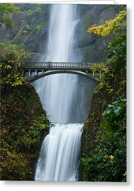 Fall At Multnomah Falls Greeting Card