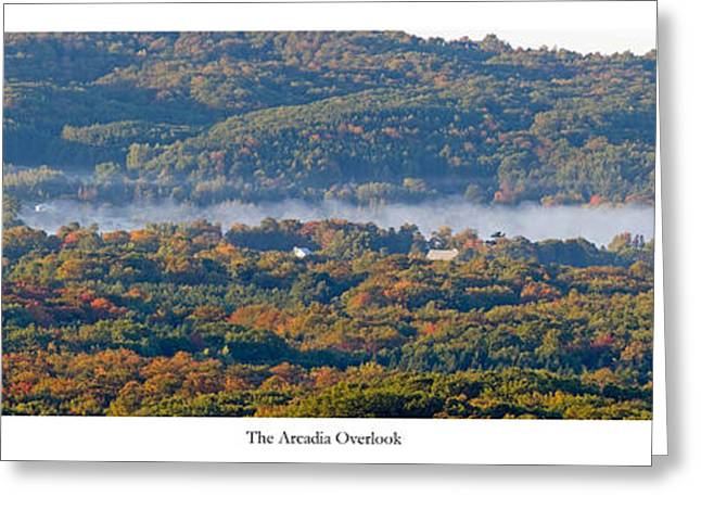 Fall At The Arcadia Overlook Greeting Card by Twenty Two North Photography