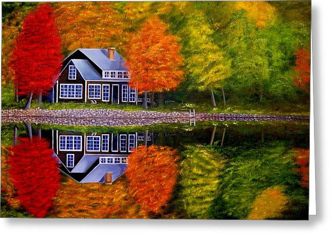 Fall At The Cabin Greeting Card