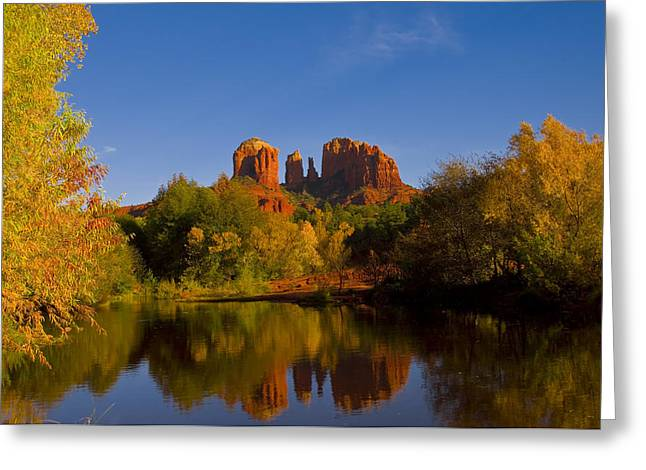 Fall At The Crossing Greeting Card by Tom Kelly