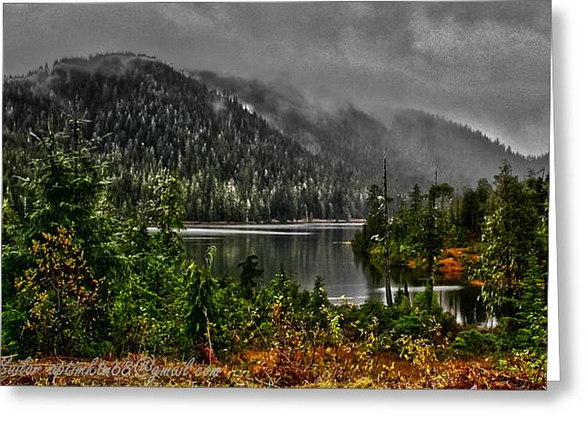 Greeting Card featuring the photograph Fall At The Lake. by Timothy Latta