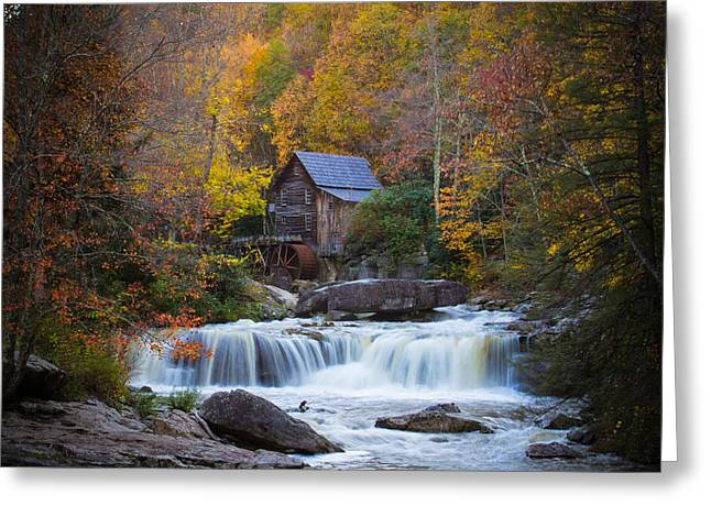 Mill At Babcock State Park Greeting Card