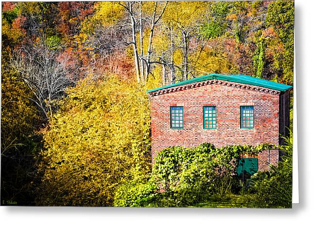 Fall At The Old Mill In Roswell Greeting Card
