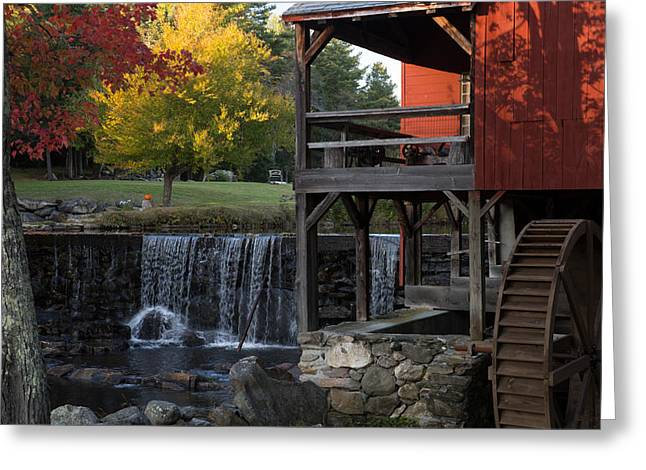 Fall At The Weston Mill Greeting Card