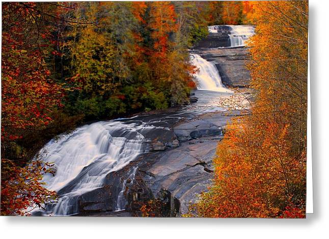 Fall At Triple Falls Greeting Card
