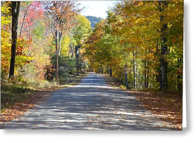 Fall Backroad Greeting Card