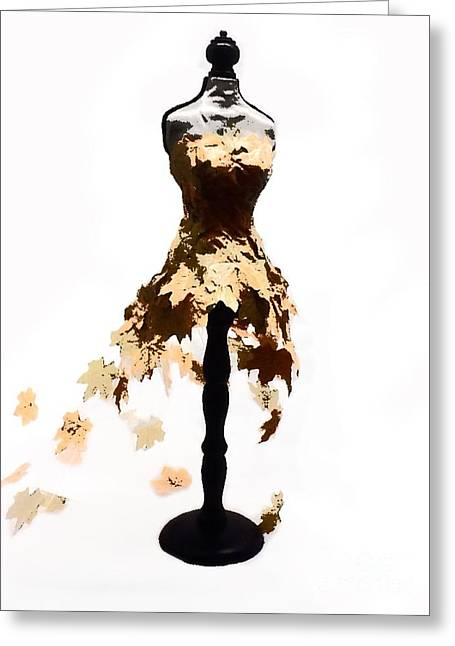 Fall Ball Gown Greeting Card by Christina Perry