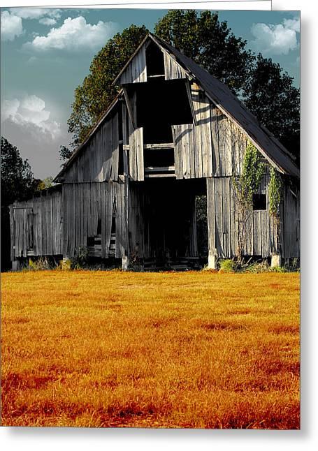 Fall Barn Greeting Card by Kristie  Bonnewell