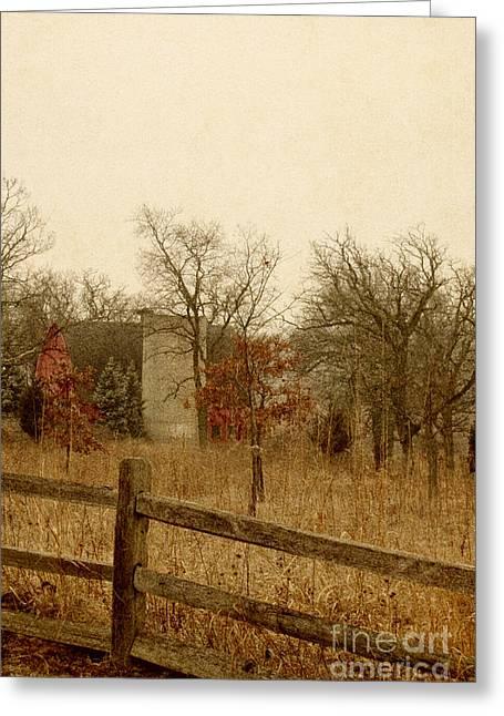 Fall Barn Greeting Card by Margie Hurwich