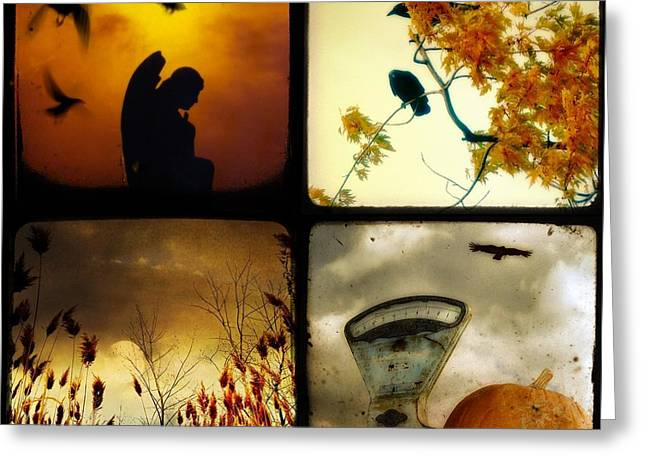 Fall Blush Collage Greeting Card