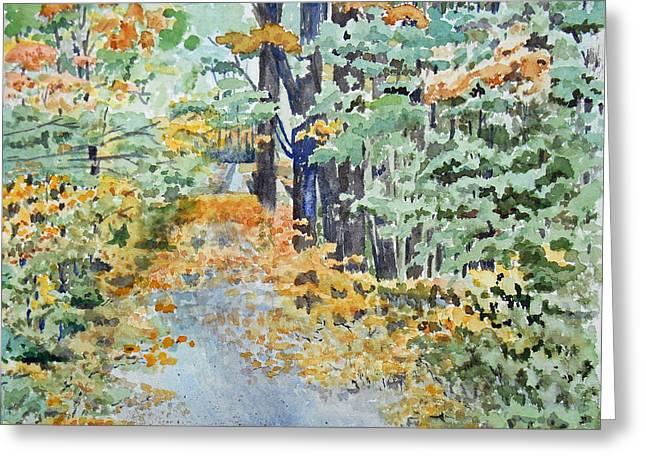 Fall Greeting Card by Christine Lathrop