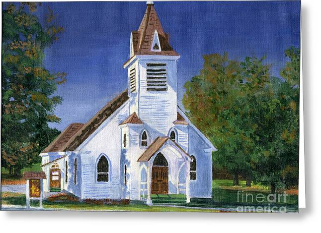 Fall Church Greeting Card