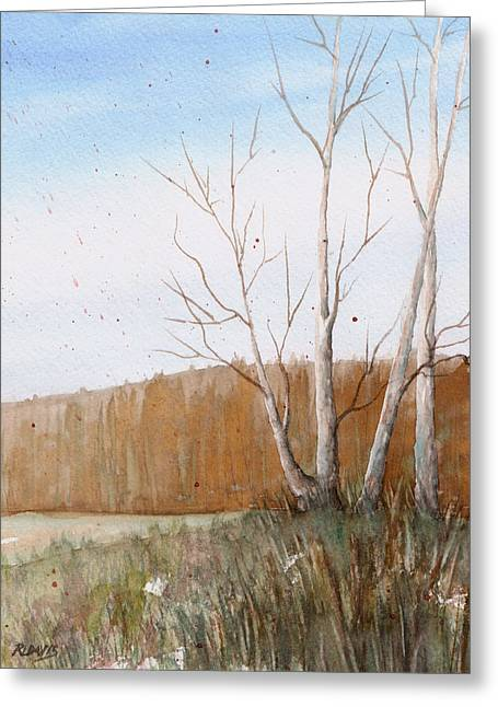Greeting Card featuring the painting Fall Clearing by Rebecca Davis