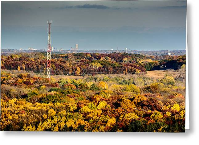 Fall Color And Downtown Greeting Card