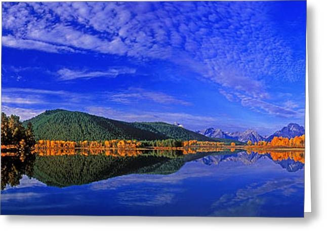 Greeting Card featuring the photograph Fall Color Oxbow Bend Grand Tetons National Park Wyoming by Dave Welling