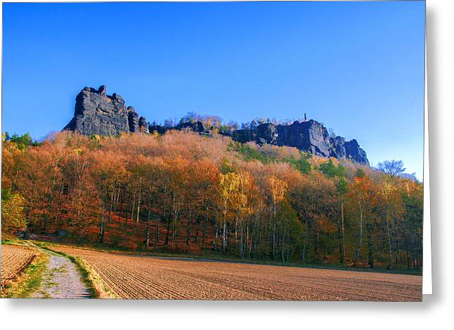 Fall Colors Around The Lilienstein Greeting Card