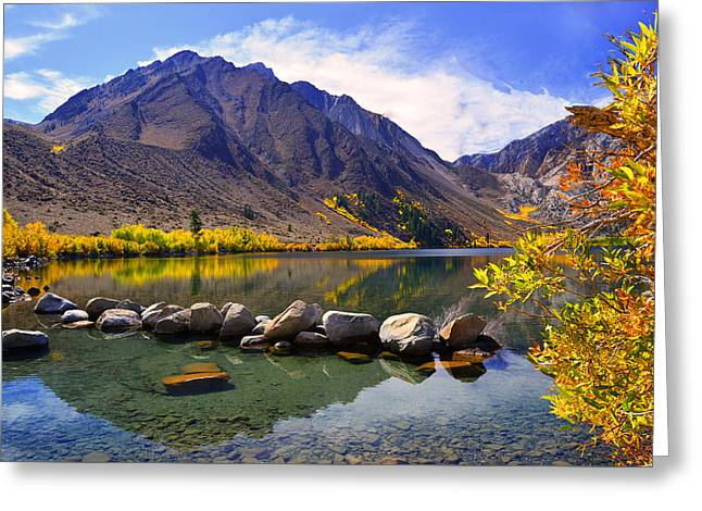 Fall Colors At Convict Lake  Greeting Card