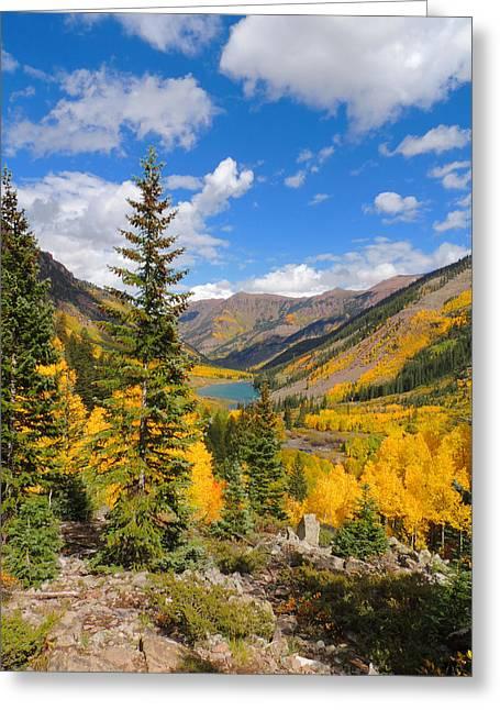 Fall Colors At Maroon Lake 2 Greeting Card by Steve Anderson