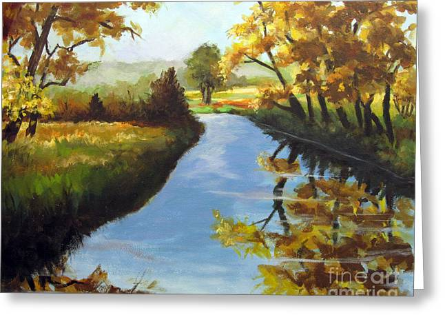 Greeting Card featuring the painting Fall Colors by Carol Hart