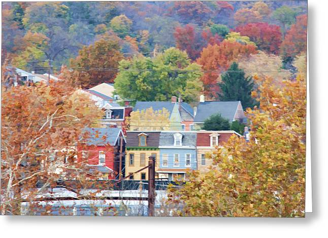 Fall Colors In Columbia Pennsylvania Greeting Card