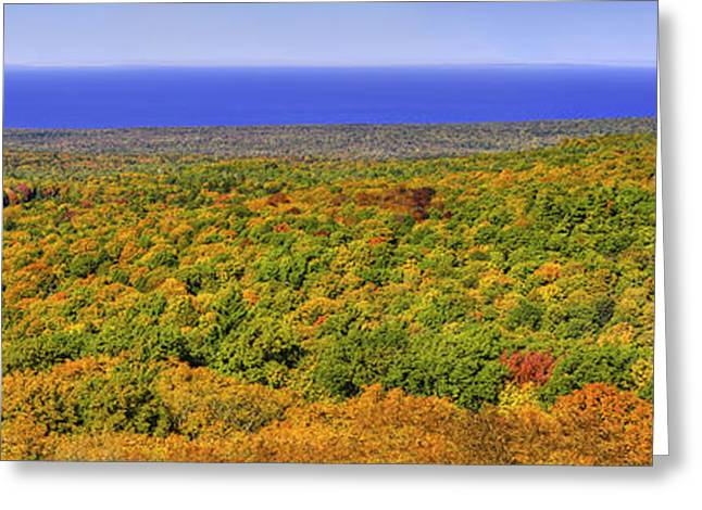 Fall Colors In The Porcupine Mountains Greeting Card by Twenty Two North Photography