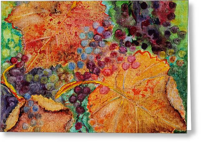 Greeting Card featuring the painting Fall Colors by Karen Fleschler