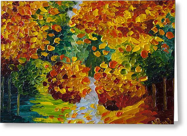 Fall Colors Greeting Card by Natasha Petrosova