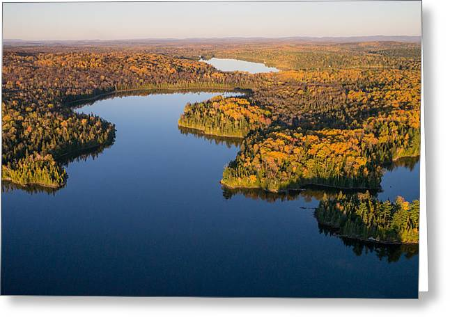 Fall Colours On Big Cedar Lake. Quebec Greeting Card by Rob Huntley