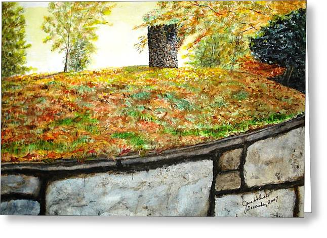 Fall Comes To Hastings Tower Greeting Card by June Holwell
