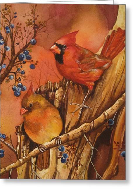 Fall Companions Greeting Card by Cheryl Borchert