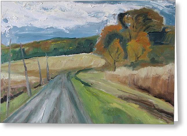 Fall Country Road  Greeting Card by Francois Fournier