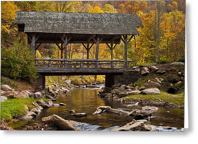 Fall Covered Bridge Greeting Card