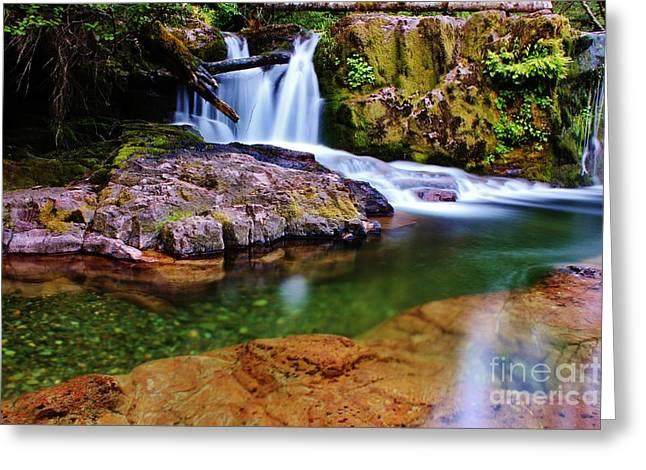 Fall Creek Oregon Greeting Card