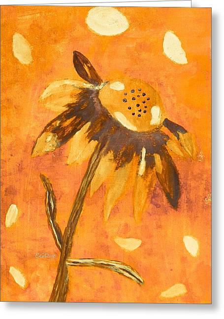 Fall Daisy Greeting Card