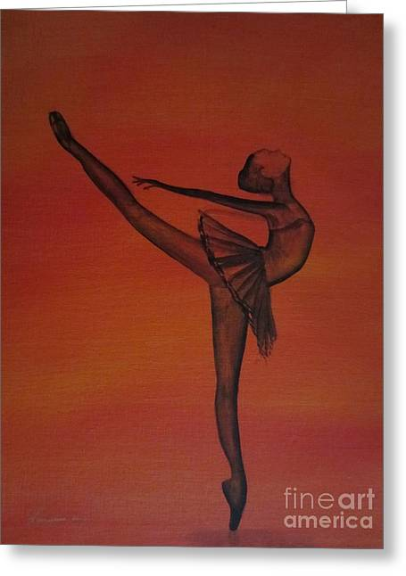 Fall Dancer 1 Greeting Card by Laurianna Taylor