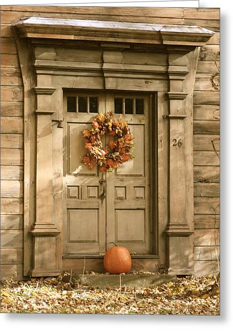 Traditional Fall Decor In New England Greeting Card