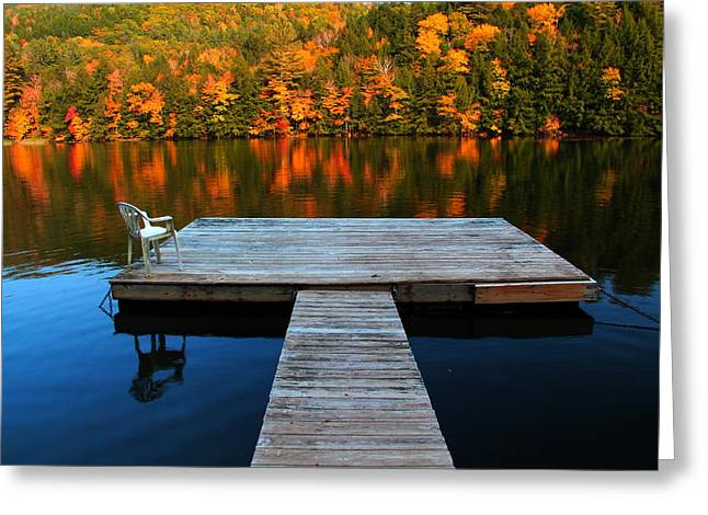 Fall Dock In Vt Greeting Card