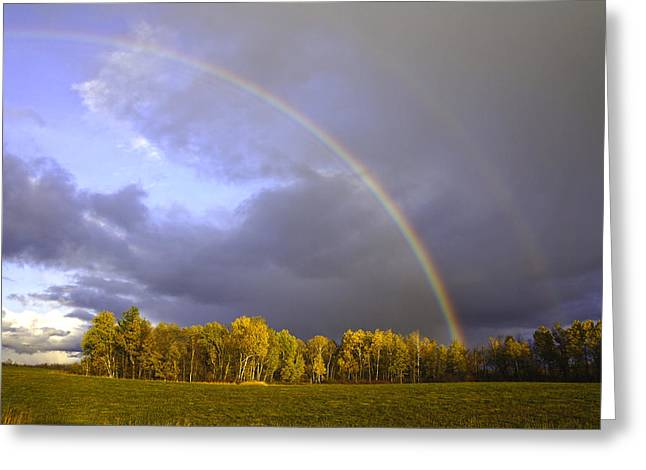 Fall Double Rainbow Greeting Card by Kevin Snider