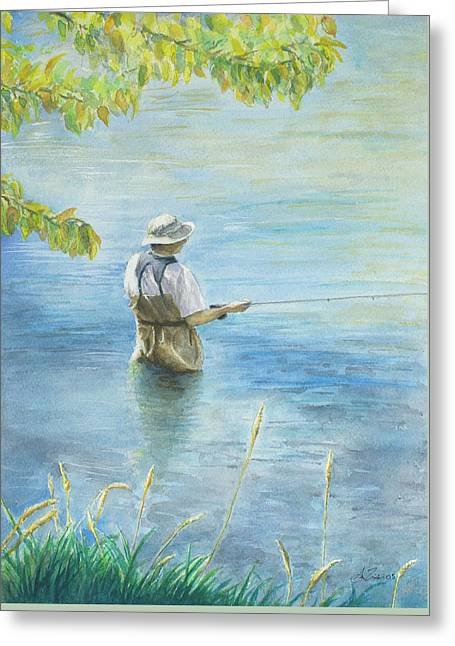Fall Fisher Greeting Card by Arthur Fix