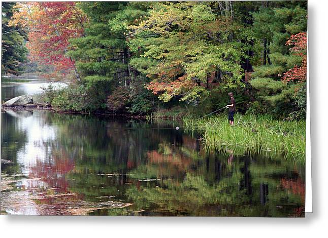 Fall Fishing  Greeting Card