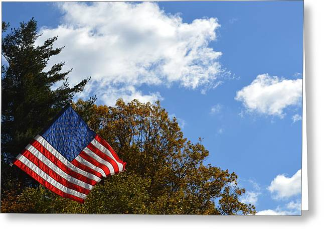 Fall Flag Greeting Card
