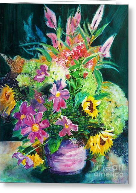 Fall Floral Sweetness Greeting Card by Kathy Braud