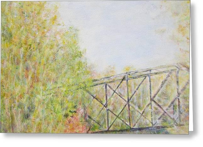 Fall Foliage And Bridge In Nh Greeting Card