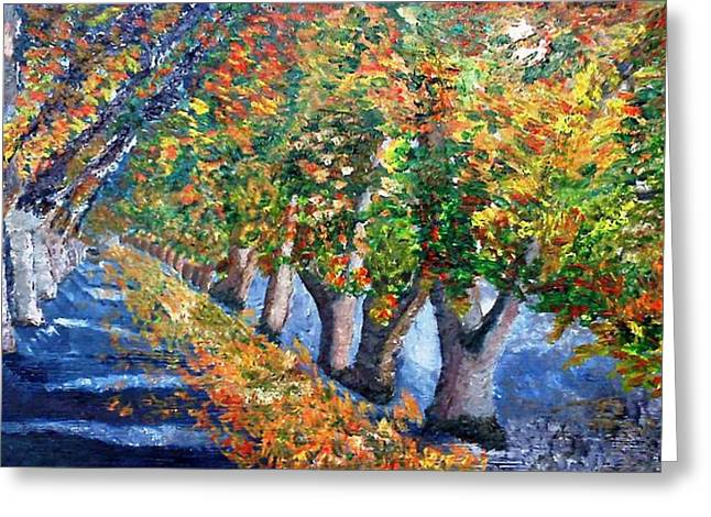Fall Foliage  Greeting Card by Leslye Miller