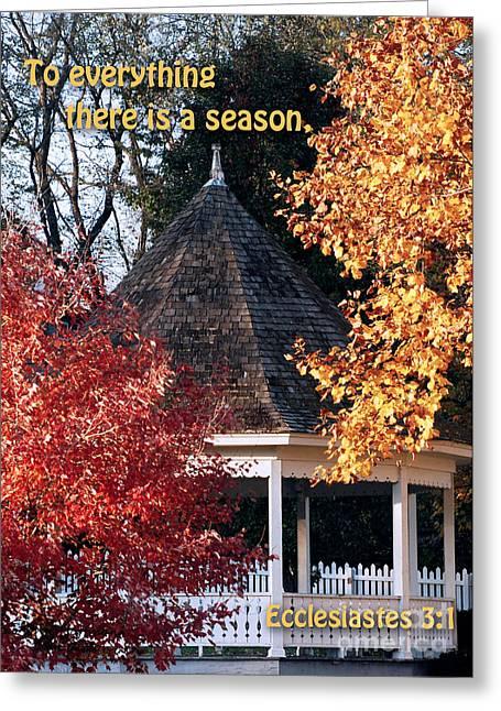 Fall Gazebo Greeting Card by John Hoffman