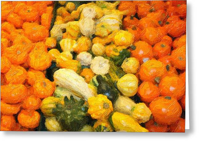 Fall Gourds Greeting Card